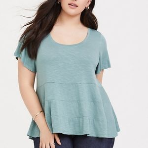 Super soft tier seamed tee